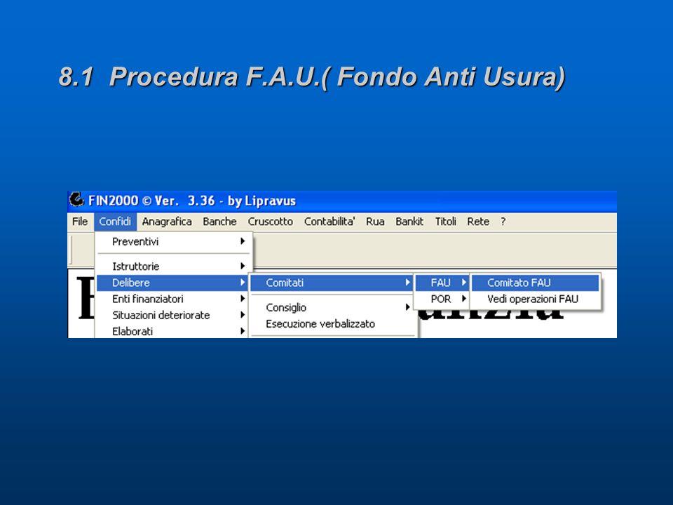 8.1 Procedura F.A.U.( Fondo Anti Usura)