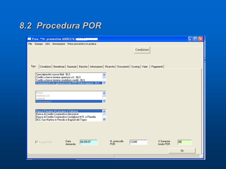 8.2 Procedura POR