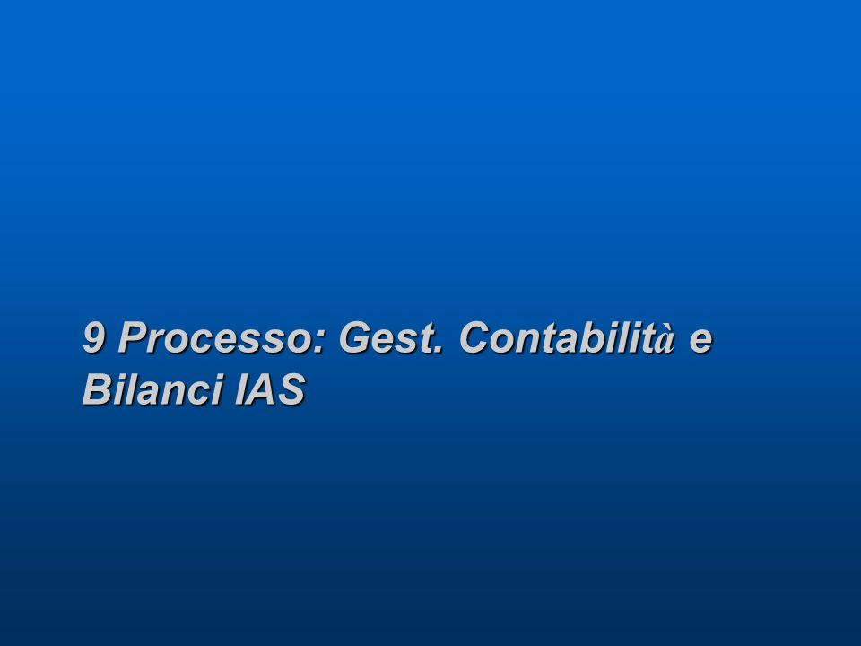 9 Processo: Gest. Contabilit à e Bilanci IAS