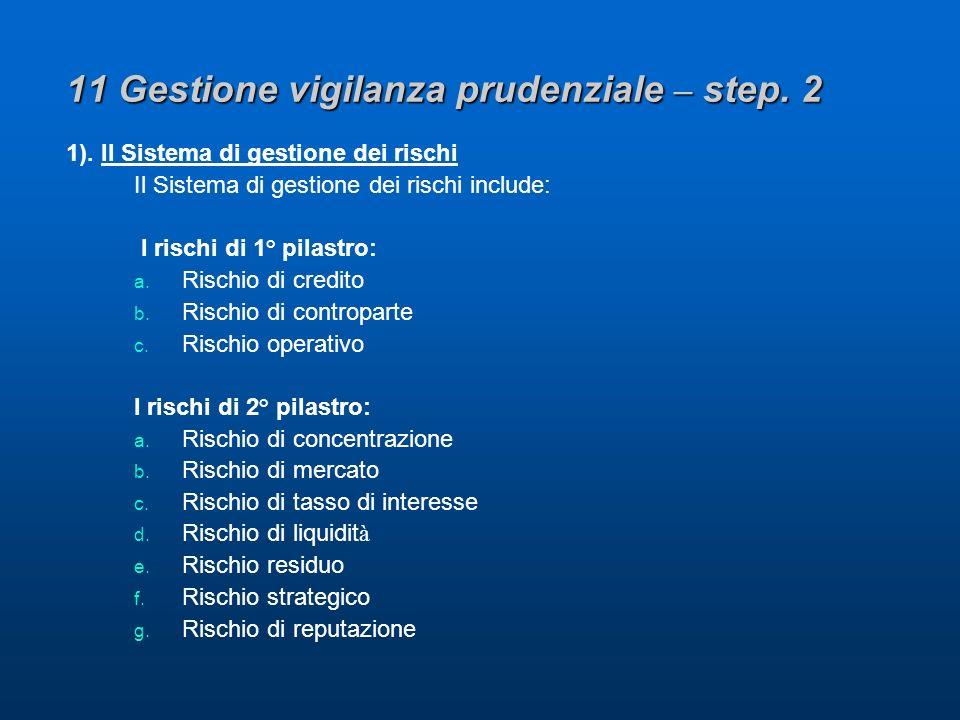 11 Gestione vigilanza prudenziale – step. 2 1).
