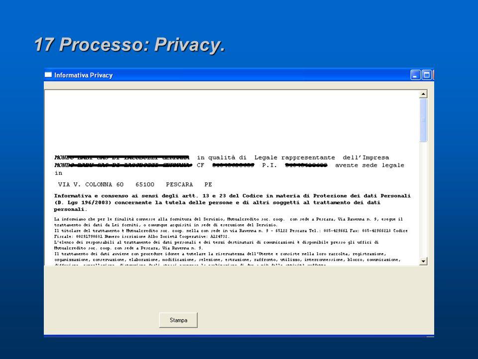 17 Processo: Privacy.
