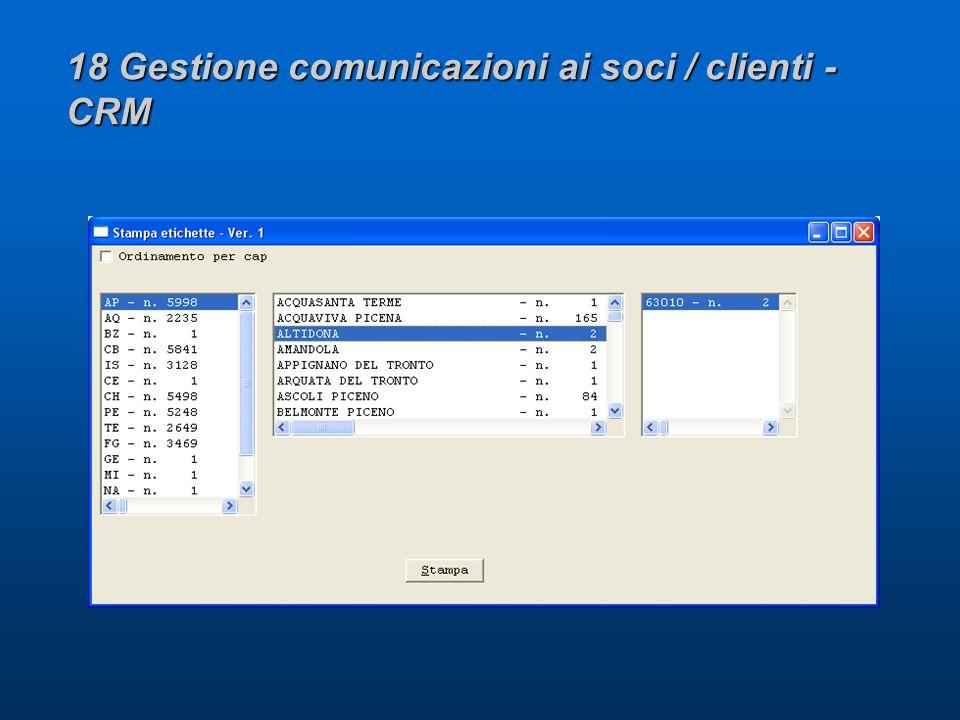 18 Gestione comunicazioni ai soci / clienti - CRM