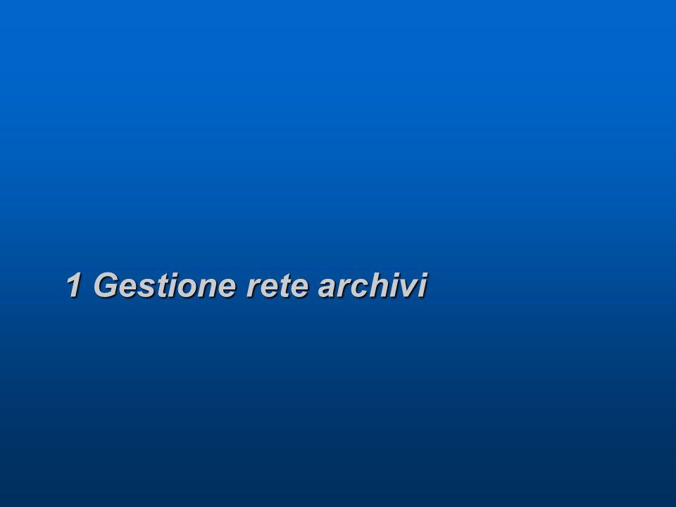 1 Gestione rete archivi