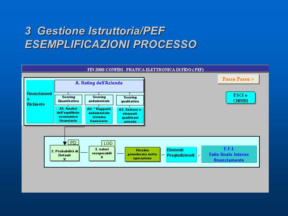 3 Gestione Istruttoria/PEF ESEMPLIFICAZIONI PROCESSO
