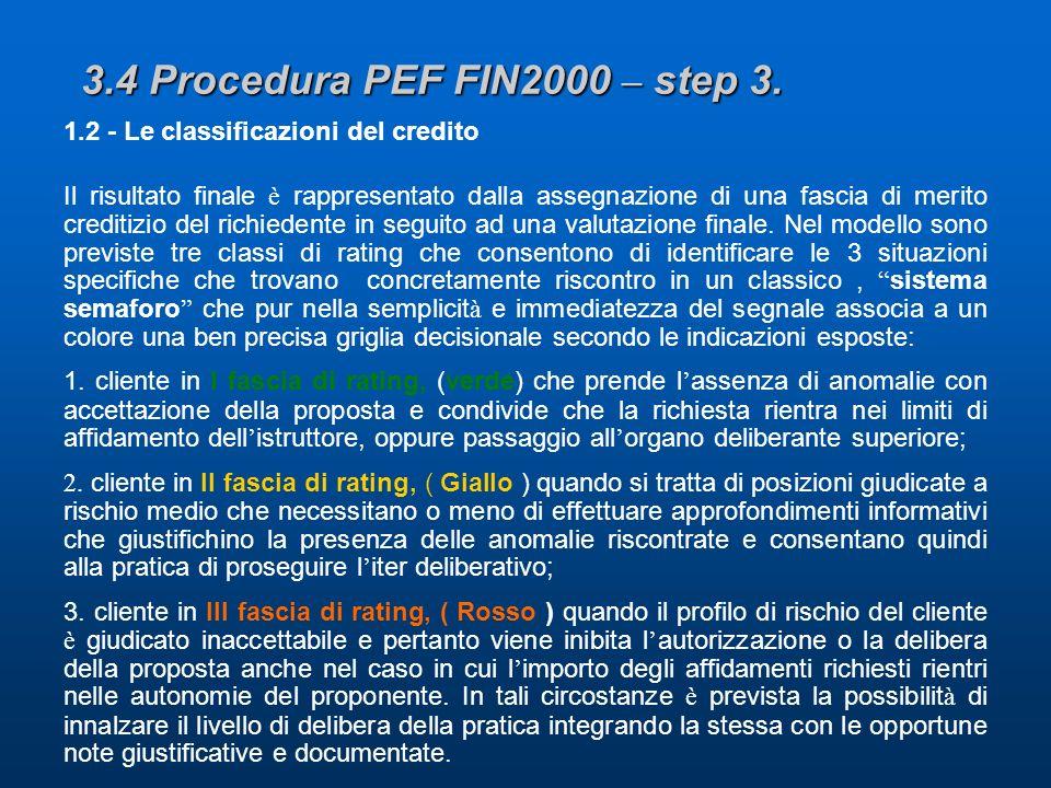3.4 Procedura PEF FIN2000 – step 3.