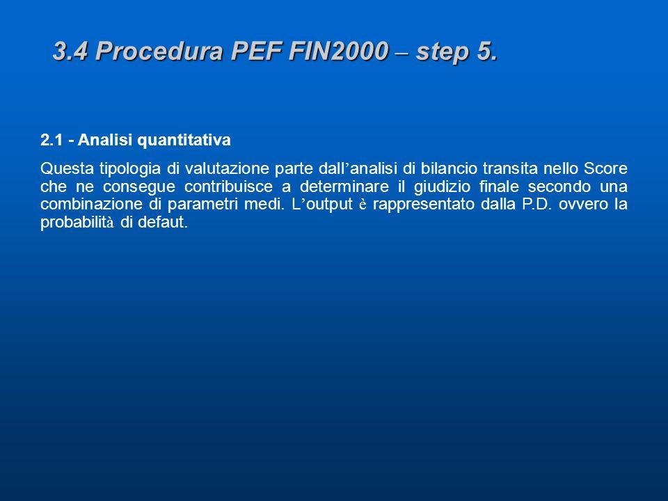 3.4 Procedura PEF FIN2000 – step 5.