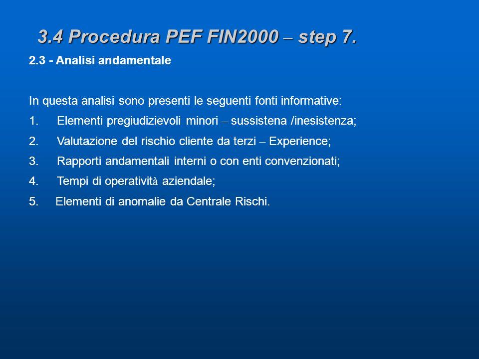 3.4 Procedura PEF FIN2000 – step 7.