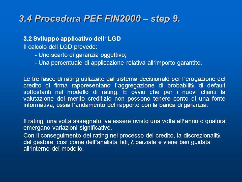 3.4 Procedura PEF FIN2000 – step 9.