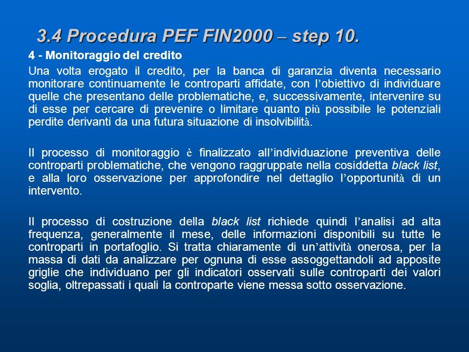 3.4 Procedura PEF FIN2000 – step 10.