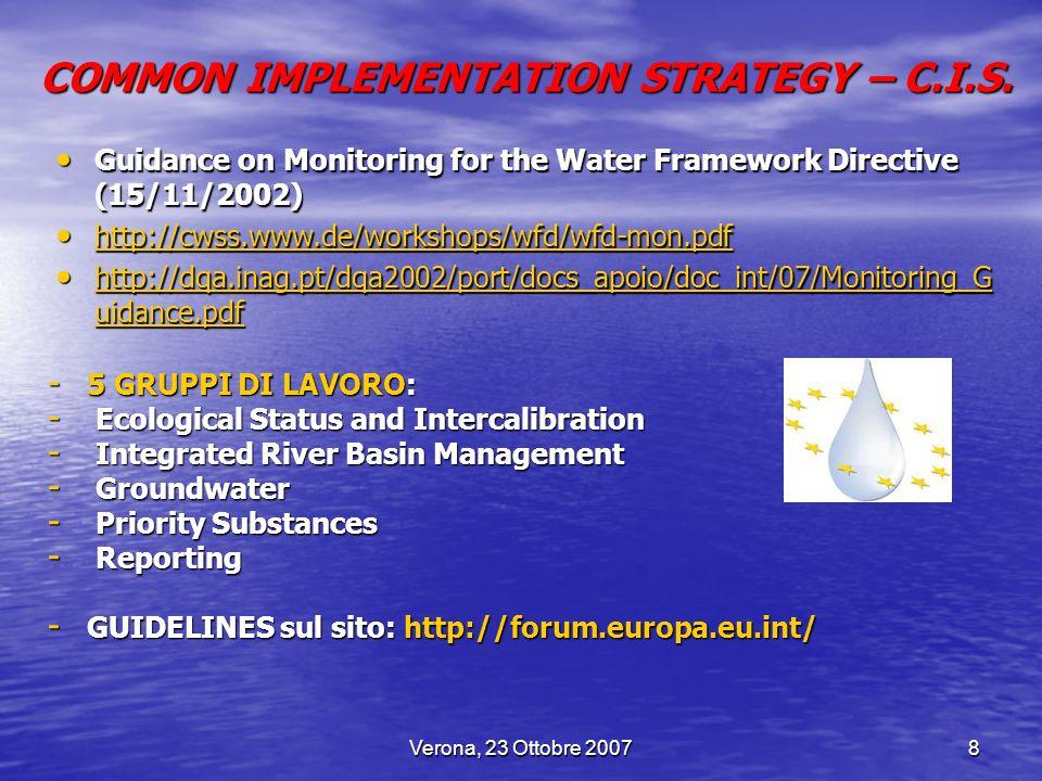 Verona, 23 Ottobre 20079 DECRETO LEGISLATIVO 11 MAGGIO 1999 N.