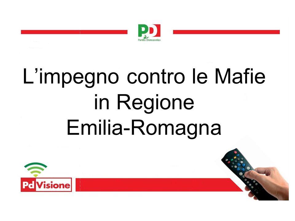 Limpegno contro le Mafie in Regione Emilia-Romagna