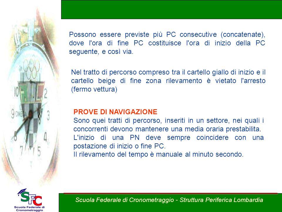A cura Andrea Pederzoli Possono essere previste più PC consecutive (concatenate), dove l'ora di fine PC costituisce l'ora di inizio della PC seguente,