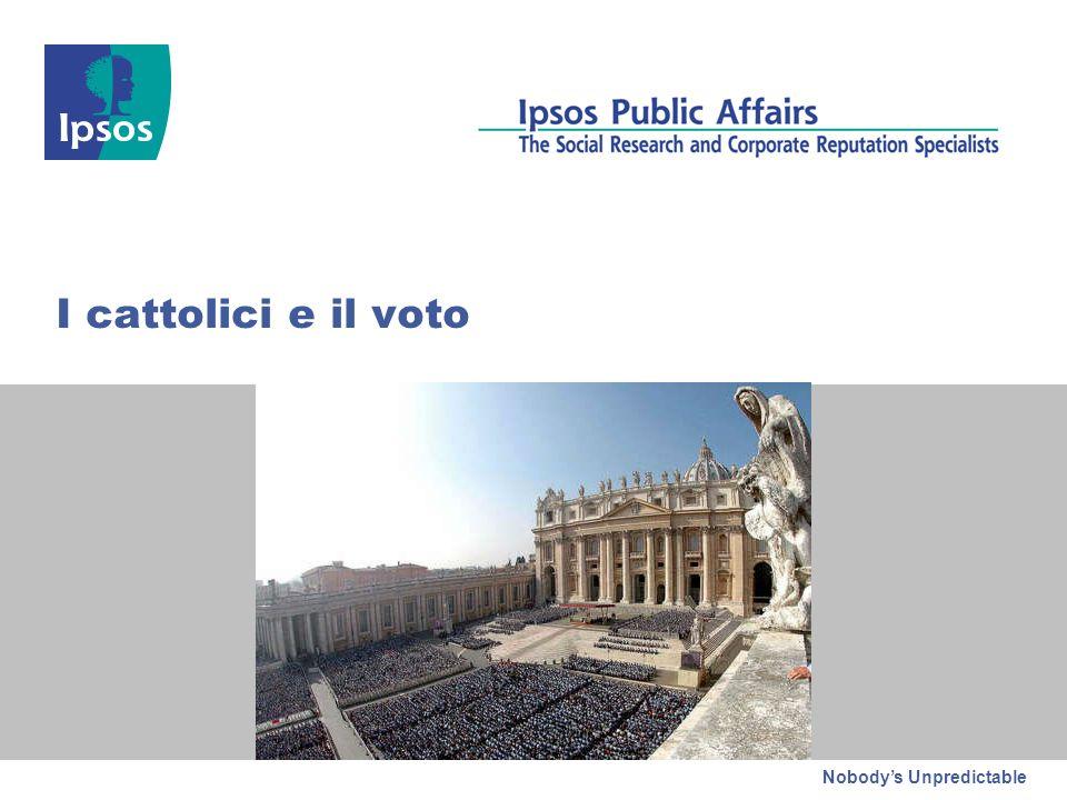 Nobodys Unpredictable I cattolici e il voto