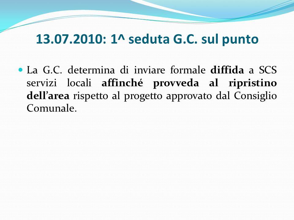 13.07.2010: 1^ seduta G.C. sul punto La G.C.