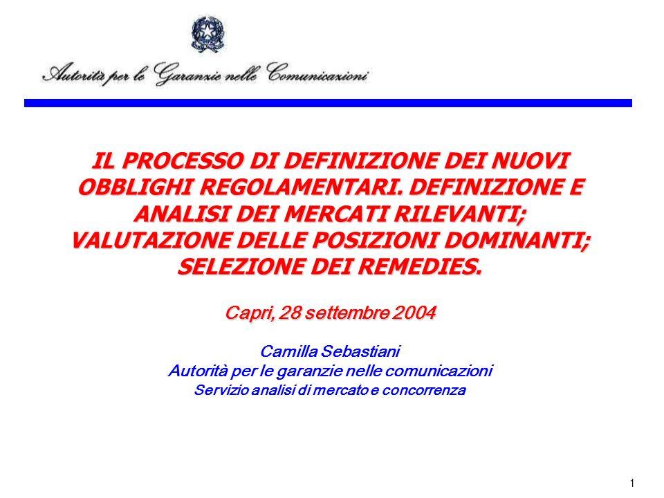 1 IL PROCESSO DI DEFINIZIONE DEI NUOVI OBBLIGHI REGOLAMENTARI.