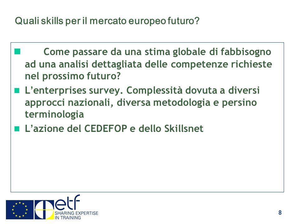 8 Quali skills per il mercato europeo futuro.