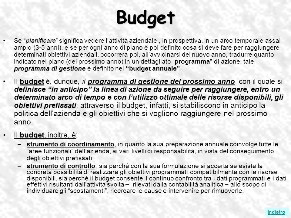 Budget pianificare programma di gestionebudgetannualeSe pianificare significa vedere lattività aziendale, in prospettiva, in un arco temporale assai a