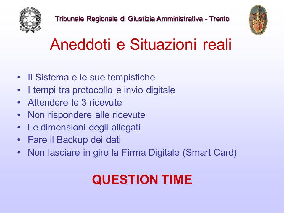 Aneddoti e Situazioni reali Il Sistema e le sue tempistiche I tempi tra protocollo e invio digitale Attendere le 3 ricevute Non rispondere alle ricevu