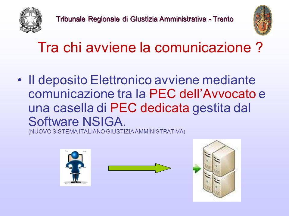 Tra chi avviene la comunicazione ? Il deposito Elettronico avviene mediante comunicazione tra la PEC dellAvvocato e una casella di PEC dedicata gestit