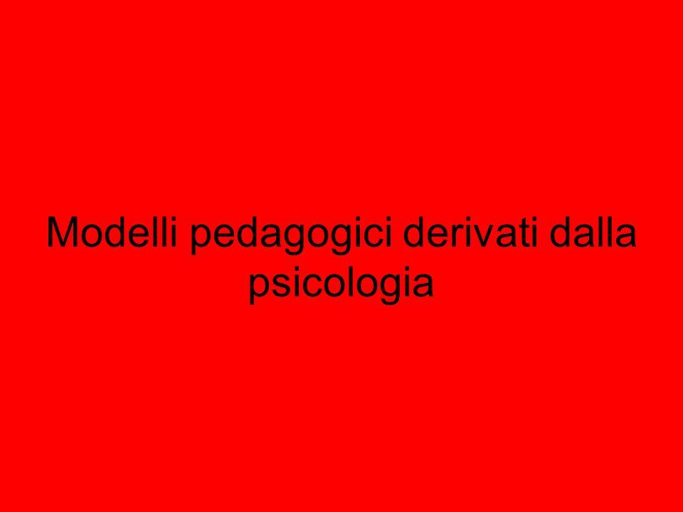 Modelli pedagogici derivati dalla psicologia