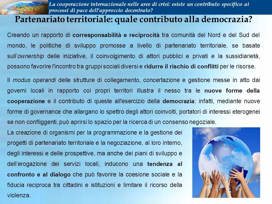 Partenariato territoriale: quale contributo alla democrazia.