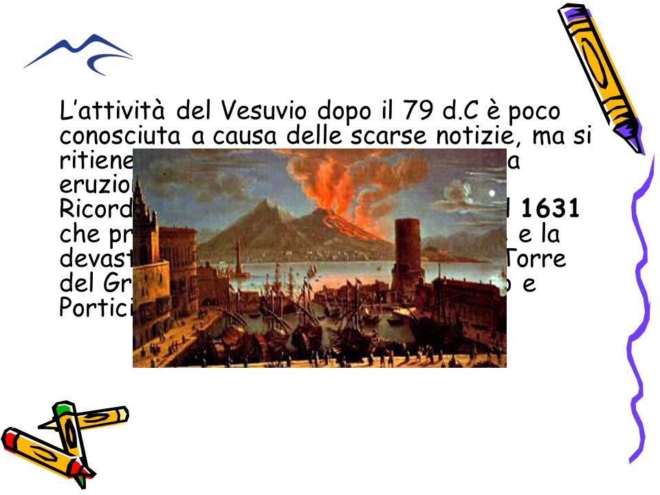 Lattività del Vesuvio dopo il 79 d.C è poco conosciuta a causa delle scarse notizie, ma si ritiene che sia stata caratterizzata da eruzioni prevalente