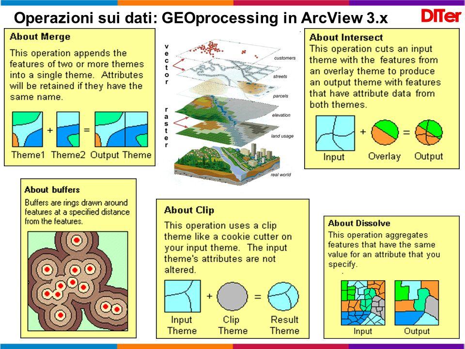 Operazioni sui dati: GEOprocessing in ArcView 3.x