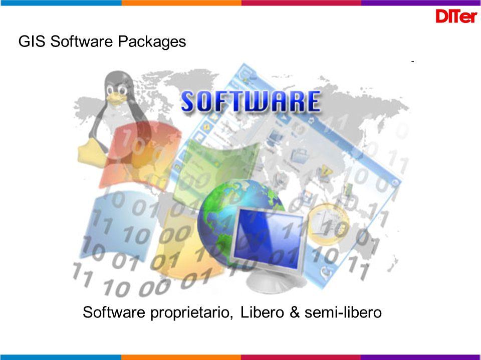 GIS Software Packages Software proprietario, Libero & semi-libero