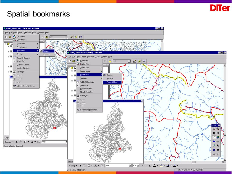 Spatial bookmarks