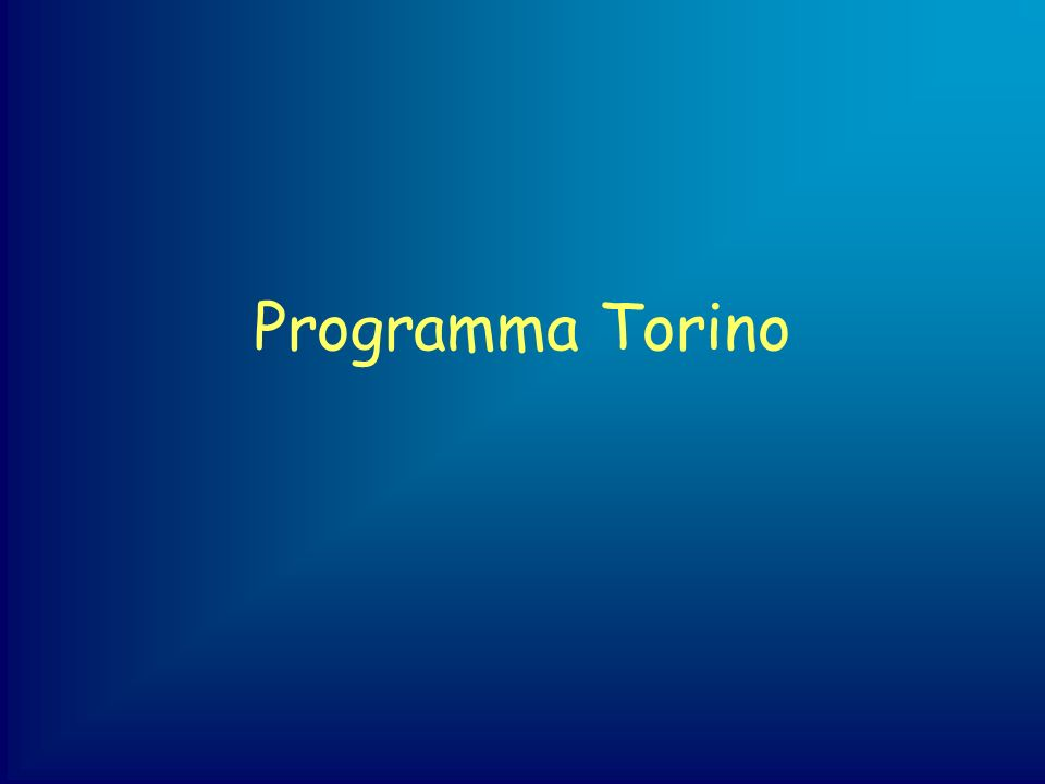 Programma Torino