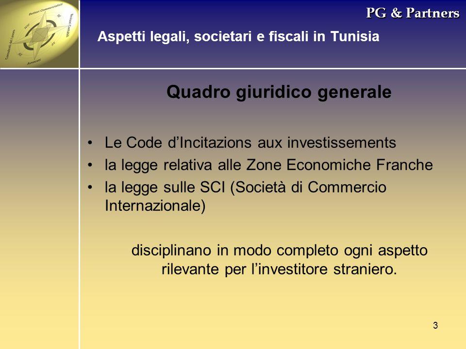 3 PG & Partners Quadro giuridico generale Le Code dIncitazions aux investissements la legge relativa alle Zone Economiche Franche la legge sulle SCI (