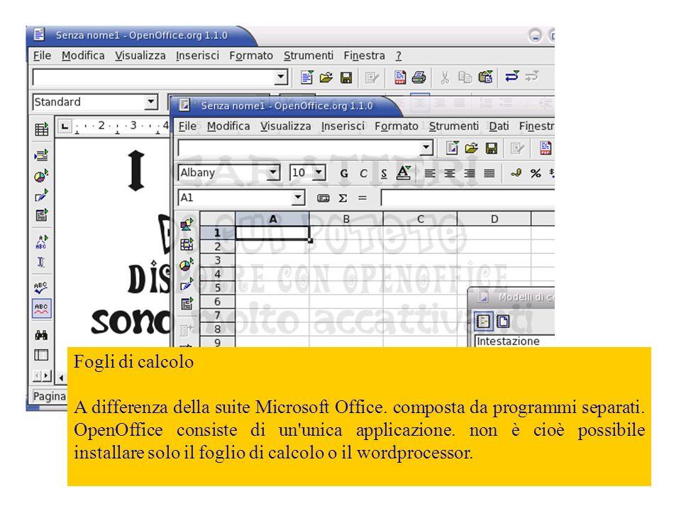 II foglio di calcolo modificato con OpenOffice viene aperto senza problemi da Excel, notiamo che le modifiche sono state conservate.