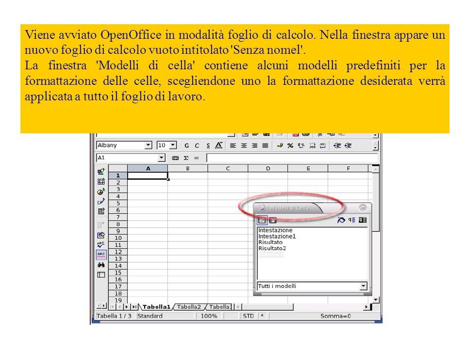 Ora, utilizzando la sequenza di menu File> Nuovo, creiamo un nuovo foglio di calcolo.