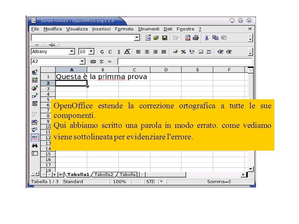 Per verificare la compatibilità con Microsoft Excel prendiamo questo modello di fattura, la formattazione é complessa.