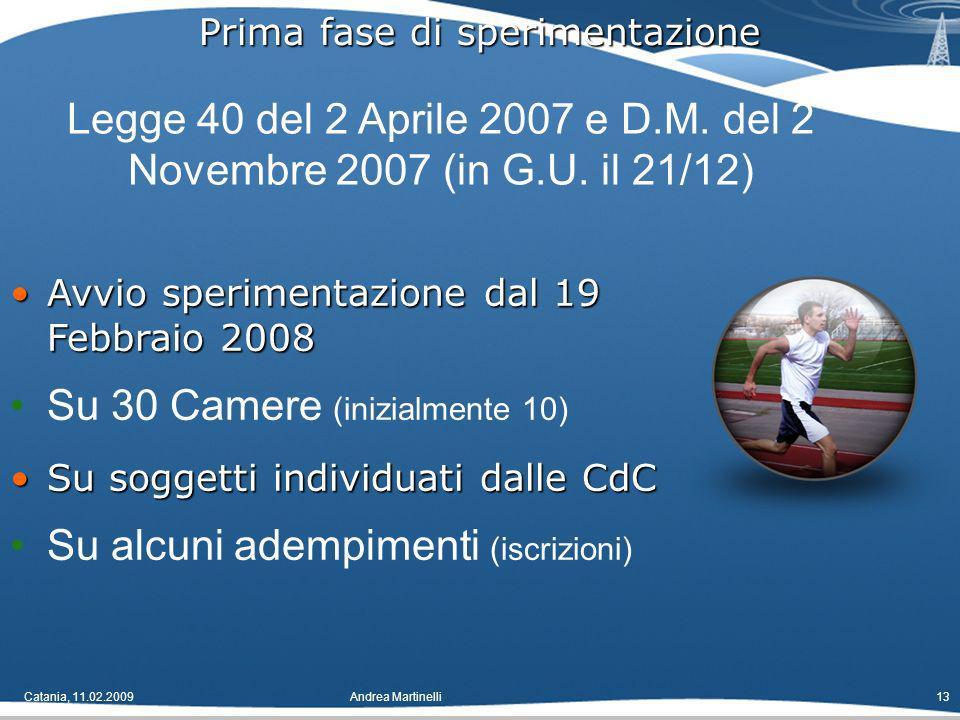 Catania, 11.02.2009Andrea Martinelli13 Legge 40 del 2 Aprile 2007 e D.M.