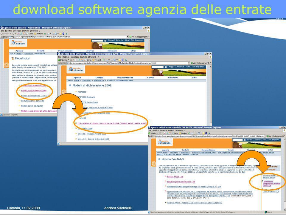 Catania, 11.02.2009Andrea Martinelli30 download software agenzia delle entrate