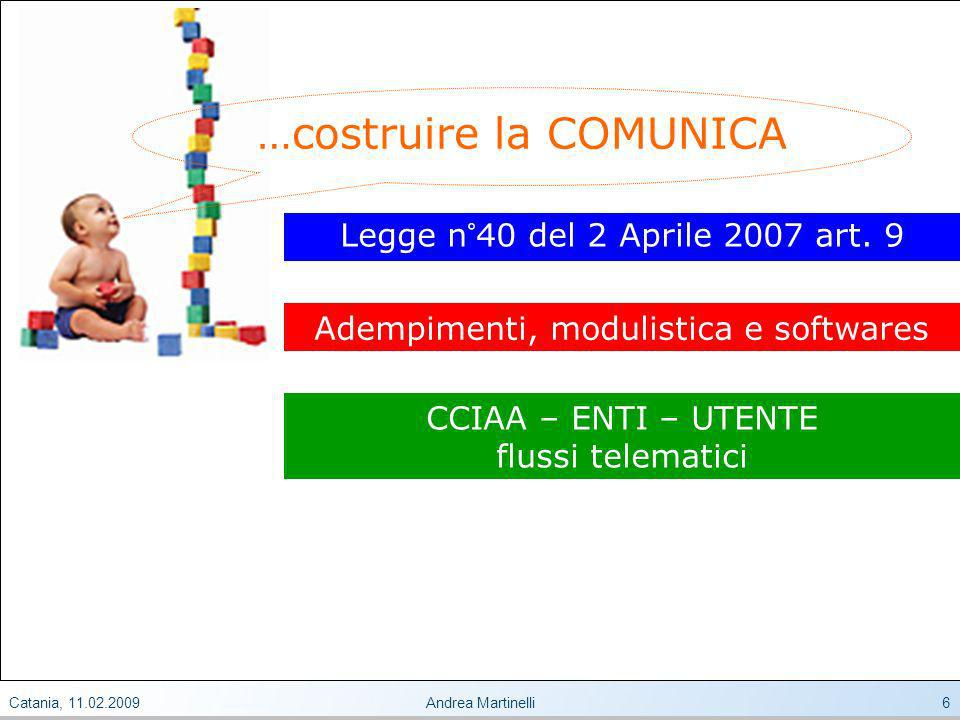 Catania, 11.02.2009Andrea Martinelli6 Legge n°40 del 2 Aprile 2007 art.