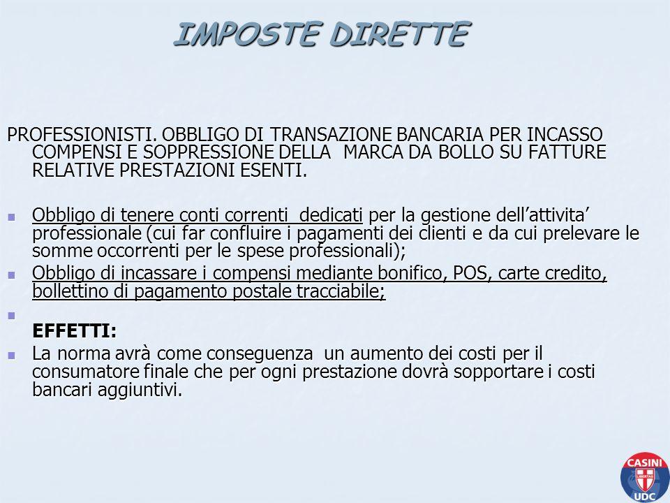 CESSIONE DI FABBRICATI - REVISIONE REGIME FISCALE.