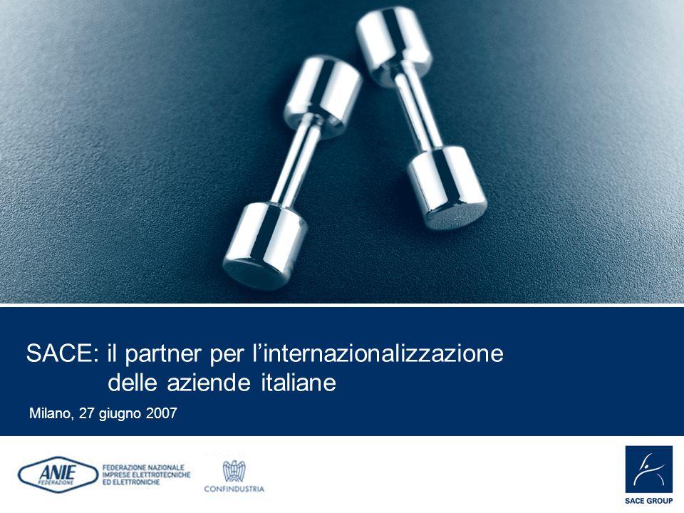 EMPOWER YOUR BUSINESS SACE: il partner per linternazionalizzazione delle aziende italiane Milano, 27 giugno 2007