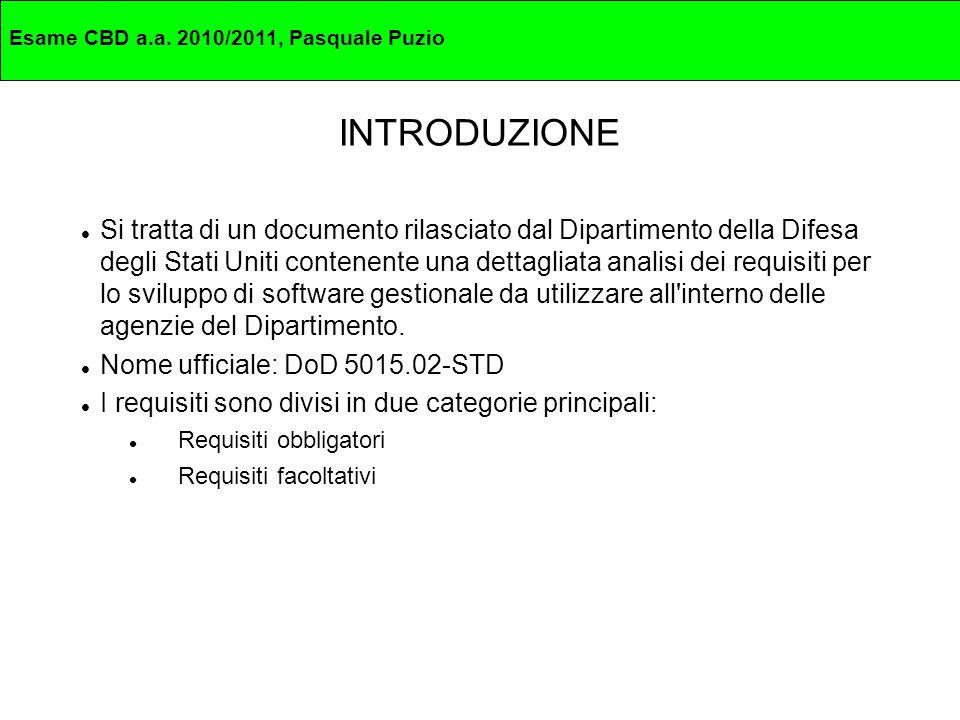 Esame CBD a.a. 2010/2011, Pasquale Puzio Domande Grazie per l attenzione. DOMANDE ?
