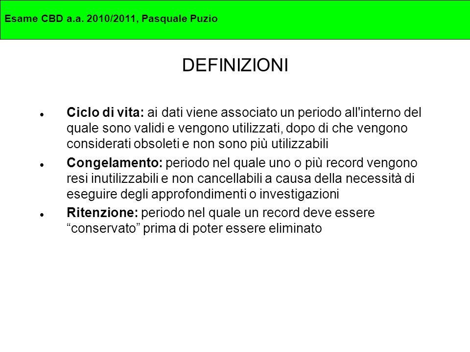 Esame CBD a.a. 2010/2011, Pasquale Puzio