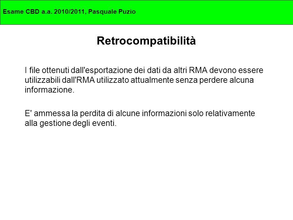 Esame CBD a.a.2010/2011, Pasquale Puzio Metadatazione dei file Ad esempio per un Web record (es.