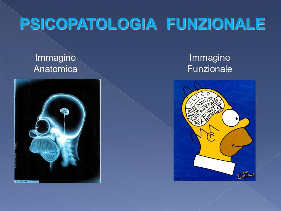 Immagine Anatomica Immagine Funzionale PSICOPATOLOGIA FUNZIONALE