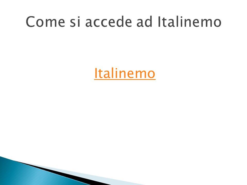 Come si accede ad Italinemo Italinemo