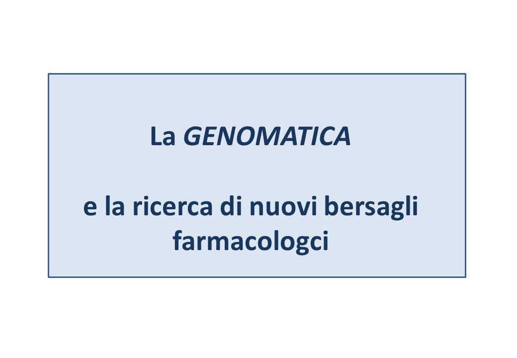La GENOMATICA e la ricerca di nuovi bersagli farmacologci