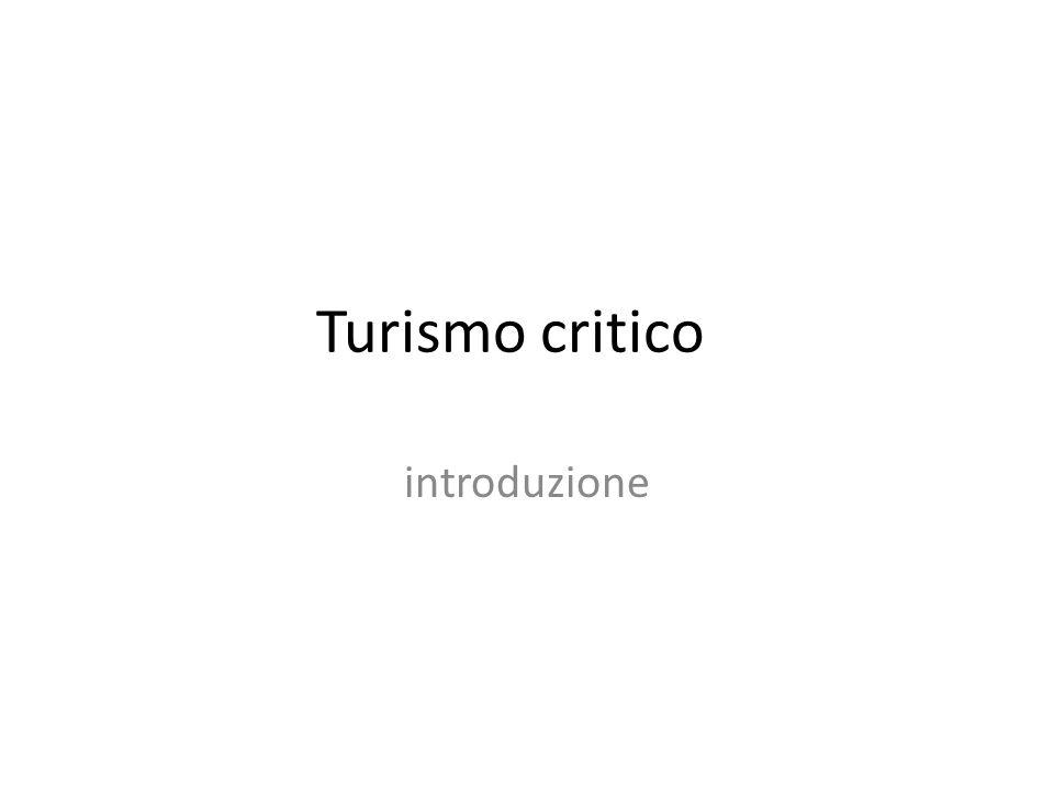 Turismo critico introduzione