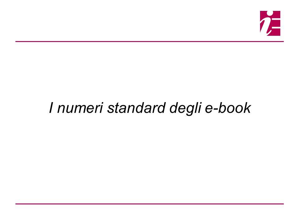 I numeri standard degli e-book