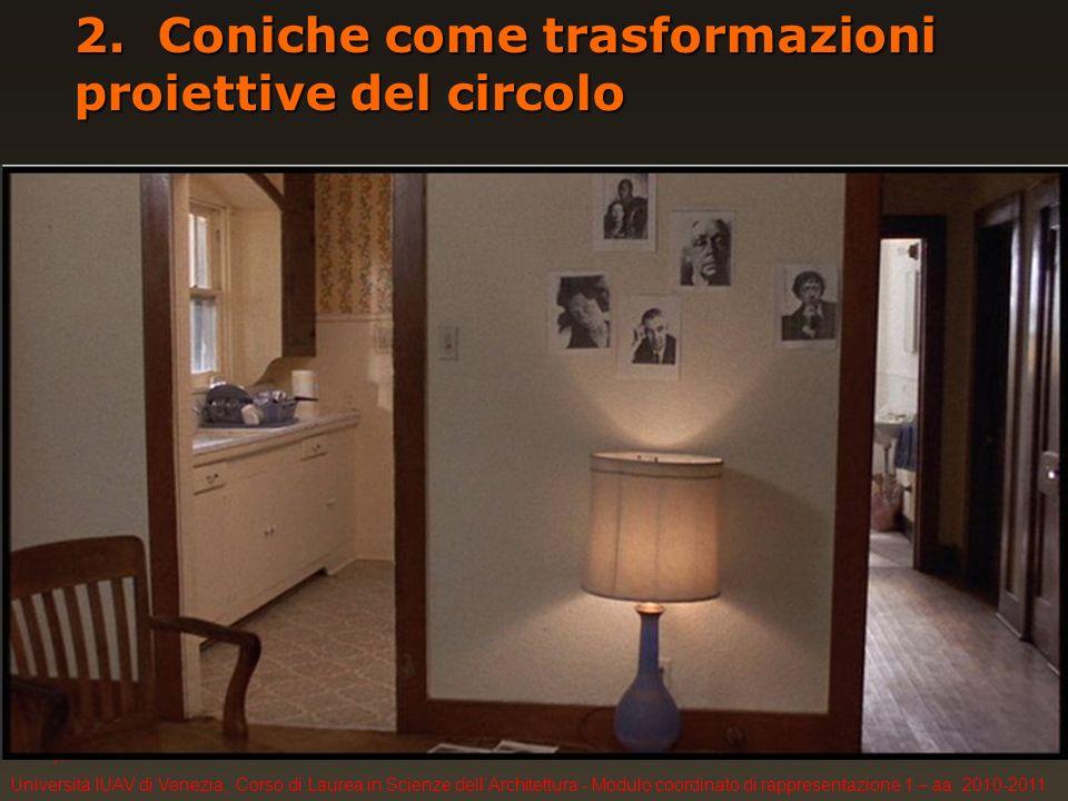 F. Gay, Università IUAV di Venezia, Corso di Laurea in Scienze dellArchitettura - Modulo coordinato di rappresentazione 1 – aa. 2010-2011 2. Coniche c