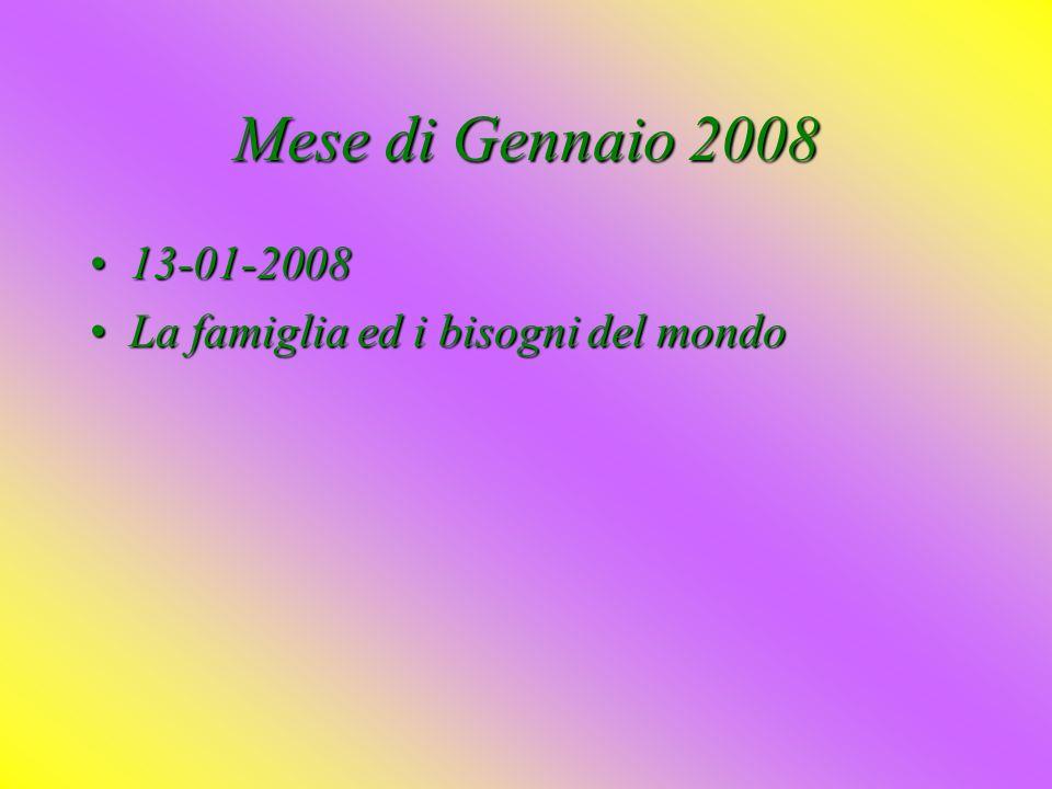 Mese di Novembre 2007 11-11-200711-11-2007 LeLe attese dei genitori e le scelte dei figli