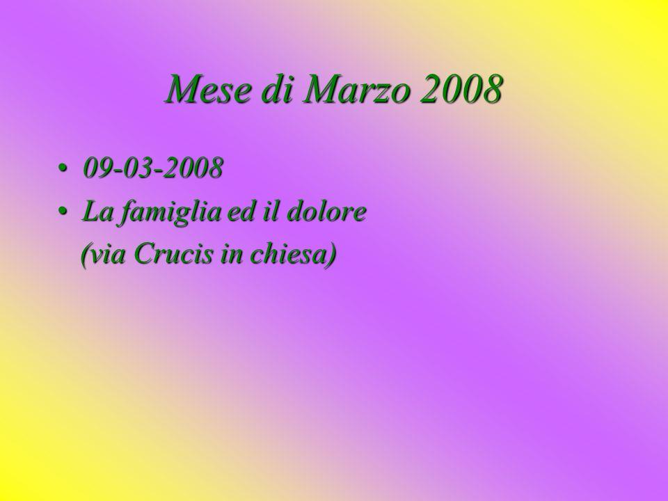 Mese di Gennaio 2008 13-01-200813-01-2008 LaLa famiglia ed i bisogni del mondo